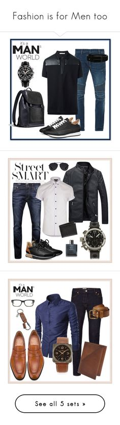 """""""Fashion is for Men too"""" by chinkie28 ❤ liked on Polyvore featuring Balmain, Bugatchi, Givenchy, Breitling, men's fashion, menswear, Jack & Jones, River Island, U-boat and Hermès"""