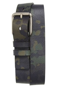 Burberry Camo Print Belt available at #Nordstrom