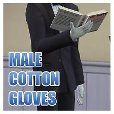 The Sims 4 | Male Cotton Gloves CAS Accessory base game recolor male adult