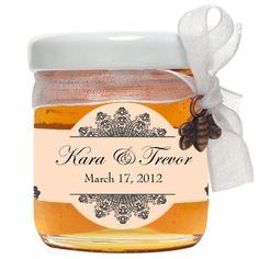 Personalized honey #wedding #favors - more inspiration at diyweddingsmag.com