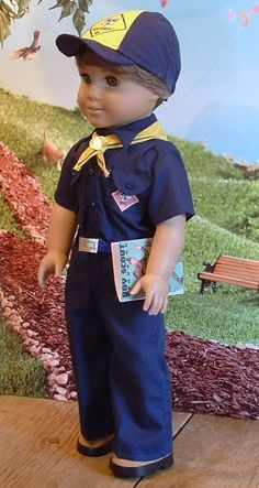 Little Cub Scout for American Boy Dolls by MyGirlClothingCo