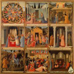 FRA ANGELICO. Armario de la plata. 1450. Temple sobre tabla. Relicario Santísima Anunciación de Florencia.