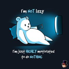 Doing nothing is a very important skill cartoon pun I'm not Lazy Cute Cartoon Drawings, Cute Animal Drawings, Kawaii Drawings, Stupid Funny Memes, Funny Puns, Funny Relatable Memes, Cute Animal Quotes, Cute Quotes, Cute Images