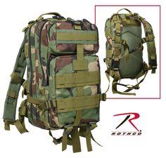 Rothco Woodland Camo Medium Transport Pack