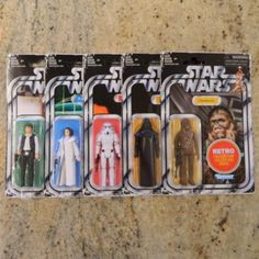 5 Star Wars Retro Collection Figures on Mercari Physical Condition, Han Solo, Star Wars Toys, Luke Skywalker, Chewbacca, Princess Leia, Action Figures, Target, Ships