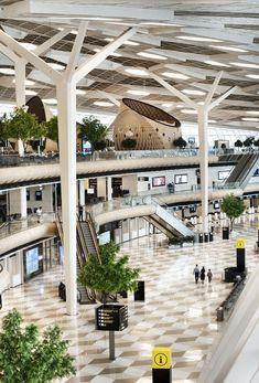 Interiores do Aeroporto Internacional Heydar Aliyev em Baku, Azerbaijão (Foto: Kerem Sanliman / Divulgação)