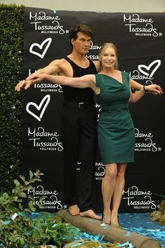What a beautiful way to remember him. Whenever we think on Patrick Swayze, we always remember him as the sexy Johnny Castle standing tall and dancing sultry to the music with Jennifer Grey. Such a legacy.    Yesterday, his wife Lisa Niemi was on hand to unveil the wax figure of her husband at Madame Tussauds Hollywood, depicting him in a pivotal scene in Dirty Dancing.