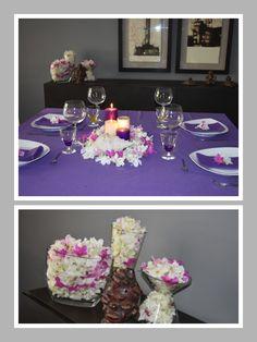 Decoración de una mesa con flores de azalea  http://mdzproyectos.com/decoracion-una-mesa-flor-azalea/