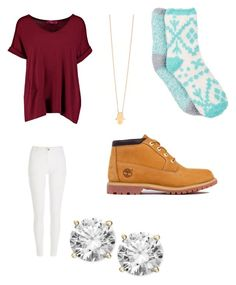 """No school"" by karinacabrera ❤ liked on Polyvore featuring Boohoo, River Island, Free Press, Jennifer Zeuner and Timberland"