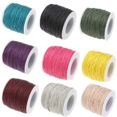 b68e1ead2 Free shipping 100 yards 1MM Waxed Thread Cotton Cord String Strap Wholesale  Necklace Rope Bead Fit