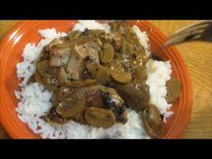 Smothered Pork Chops in Apple Mushroom Gravy