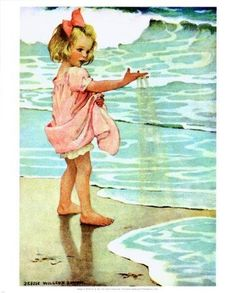 Little girls by the ocean theme?