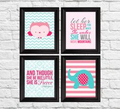 Nursery art prints let her sleep for when by RainbowsLollipopsArt