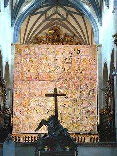 Voile de Carême de la cathédrale de Gurk en Autriche - 1458