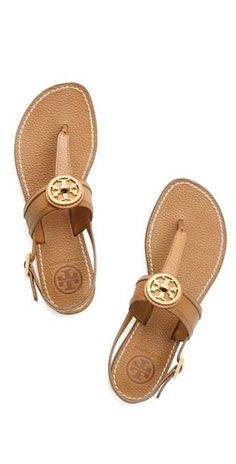 I need these to get in my closet now! Tory Burch sandals