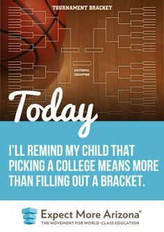 We love March Madness as much as the next nonprofit education advocacy organization… but, we hope you'll look at the tournament as a good opportunity to talk to your kids about what they should look for in a school. Having a winning bracket is exciting, but what does a postsecondary program need to help your child advance toward success in career and in life? http://TodayInAZ.org/ #TodayInAZ #Bracket #MarchMadness