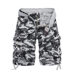 Objective Shorts Men Homme Cargo Beach Short Pants 2019 Summer Mens Summer Loose Multi Pocket Hip Hop Shorts Online Discount no Belt