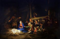 Adoration of the Shepherds by Christian Wilhelm Ernst Dietrich