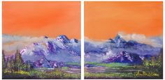 59 Ideas Italian Landscape Paintings Canvases Originals For 2019 Horse Artwork, Painting Videos, Landscape Paintings, Oil Paintings, Mountain Landscape, Oil Painting Abstract, Etsy, Canvases, Originals