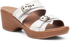 c92d43425a2533 Dansko 9700122200 Women S White Multi Jessie Slide Sandals - With Box