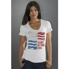 Made in the U.S.A. T-Shirt. 100 percent organic cotton. Posted via www.BuyDirectUSA.com