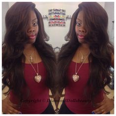 Weave by Diamond dolls beauty using Malaysian custom coloured Famoushair with silk closure