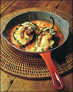 Poblanos Stuffed with Goat Cheese and Shrimp