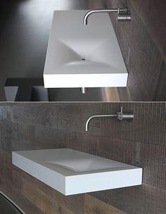 Unique House Design, Modern Design, Small Basin, Sink Design, Room Goals, Luxurious Bedrooms, Interior Architecture, Concrete, Furniture Design