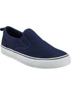 Canvas Slip-Ons for Boys Little Boy Fashion, Kids Fashion, School Uniform Fashion, School Uniforms, Tween Boy Outfits, Shop Old Navy, Maternity Wear, Blue Plaid, Boys Shoes