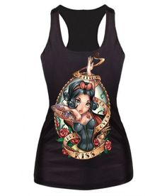 New 2015 women summer 3d vests The Little Mermaid vest Ariel Sailor Moon Cartoon print camisole Sexy fashion punk tank tops