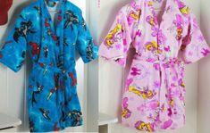 Fiz a modelagem deste robe do  2 ao 14. Kimono Diy, Sewing For Kids, Cover Up, Couture, Blouse, Tops, Dresses, Google Translate, Fashion