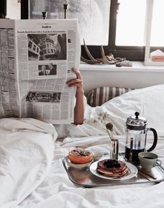 Imagem de breakfast, morning, and bed