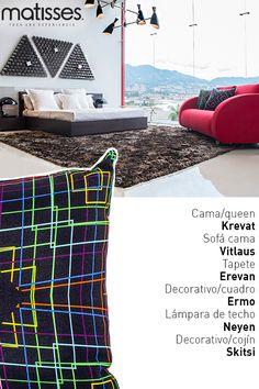 Experiencia Matisses: Una habitación para compartir un momento de descanso, con elementos decorativos que le aportan sobriedad.