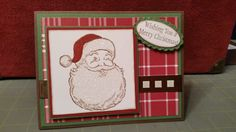 Jolly Old Saint Nick Stamp Set Frost Wood Lodge DSP   Retired Stampin Up