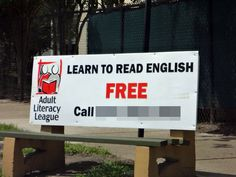Learn to read english so you can read this sign