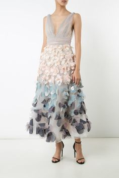 Notte by Marchesa Sleeveless Tulle Dress