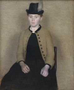 "Vilhelm Hammershoi. ""Portrait of Ida Ilsted, Later the Artist's Wife"" (1890). Credit Statens Museum for Kunst, smk.dk."