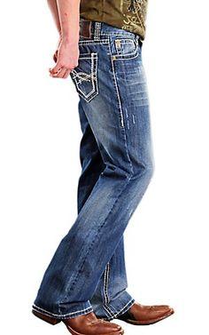 Rock & Roll Cowboy® Medium Stonewash Double Barrel Relaxed Fit Boot Cut Jeans   Cavender's [$69.00]