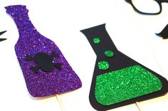 Items similar to Halloween Photo Booth Props - 6 piece set - GLITTER Photobooth Props - Cat and Mad Scientist on Etsy Halloween Photo Booth Props, Cute Halloween Costumes, Halloween Photos, Halloween Party, Gold Birthday Party, Happy Birthday Balloons, Unicorn Birthday Parties, Mad Science Party, Mad Scientist Party
