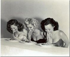 Me and my girlfriends when we go out to dinner