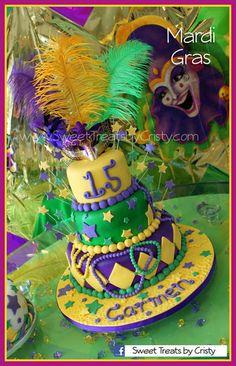 mardi gras cake   Mardi Gras Cake - by SweetTreatsbyCristy @ CakesDecor.com - cake ...