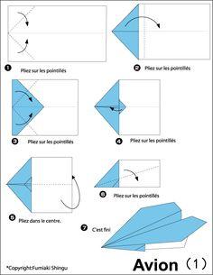 avion en papier Plus - - Origami Paper Plane, Origami Airplane, Instruções Origami, Origami Yoda, Origami Star Box, Origami Bookmark, Origami Design, Simple Origami, Paper Airplanes Instructions