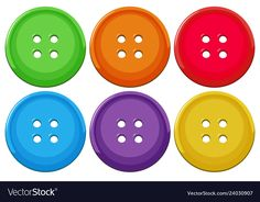 Set of colorful buttons vector image on VectorStock Autism Learning, Preschool Learning Activities, Free Preschool, Preschool Printables, Book Activities, Kids Learning, Book Crafts, Paper Crafts, Balloon Illustration