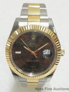 Mint Genuine Mens Rolex Datejust 18k Gold Stainless Steel 116333 Watch Box Paper #Rolex #LuxurySportStyles