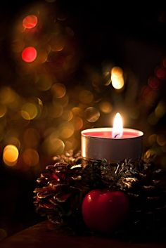 would rather be sitting snuggling by candle light any time of the year - Candle Christmas Lights
