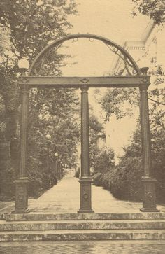 Reprint postcard of the Arch at University of Georgia, Athens, Georgia