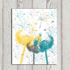 Nursery flowers printable Yellow gray teal nursery by DorindaArt Girl Bedroom Walls, Bedroom Prints, Baby Bedroom, Girl Room, Bedroom Ideas, Bedroom Setup, Upstairs Bedroom, Master Bedrooms, White Bedroom