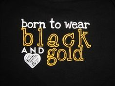 This shirt needs no explanation. If you love dem boy's in Black and Gold then you were born to wear just that.Black and Gold! Go Steelers, Pittsburgh Steelers, Steelers Stuff, Pittsburgh Penguins, App State, Saints Football, Steeler Football, Football Onesie, Kappa Alpha Theta