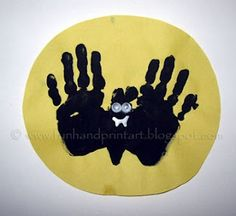 "Vincent ""V"" Vampire bat hand-prints"