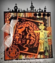 CottageBLOG: CottageCutz Spooky Ghost House Halloween Card